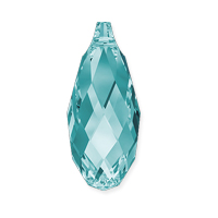 Swarovski Briolette Crystal Pendant 6010 13x6.5mm Light Turquoise (1-Pc.)
