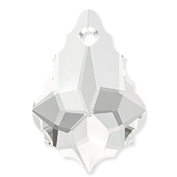 Swarovski Crystal Baroque Pendant 6090 22x15mm Crystal (1-Pc)