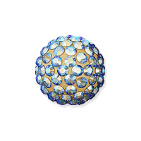 Swarovski Crystal Pave Ball Bead 10mm Light Colorado Topaz Shimmer (1-Pc)