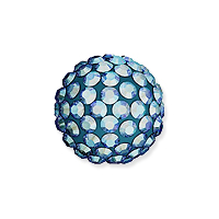 Swarovski Crystal Pave Ball Bead 10mm Light Sapphire Shimmer (1-Pc)