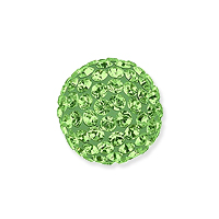 Swarovski Crystal Pave Ball Bead 10mm Peridot (1-Pc)