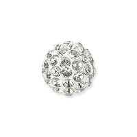 Swarovski Crystal Pave Ball Bead 6mm Crystal (1-Pc)