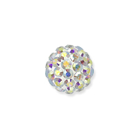Swarovski Crystal Pave Ball Bead 4mm Crystal AB (1-Pc)