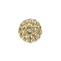Swarovski Crystal Pave Ball Bead 6mm Crystal Golden Shadow (1-Pc)