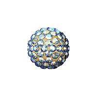 Swarovski Crystal Pave Ball Bead 8mm Light Colorado Topaz Shimmer (1-Pc)