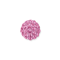 Swarovski Crystal Pave Ball Bead 4mm Light Rose (1-Pc)