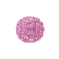 Swarovski Crystal Pave Ball Bead 8mm Light Rose (1-Pc)