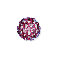 Swarovski Crystal Pave Ball Bead 6mm Light Siam Shimmer (1-Pc)