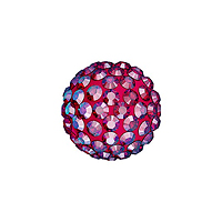 Swarovski Crystal Pave Ball Bead 8mm Light Siam Shimmer (1-Pc)