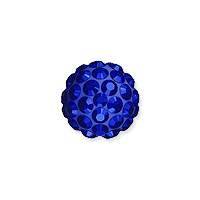 Swarovski Crystal Pave Ball Bead 6mm Majestic Blue (1-Pc)