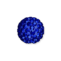 Swarovski Crystal Pave Ball Bead 8mm Majestic Blue (1-Pc)