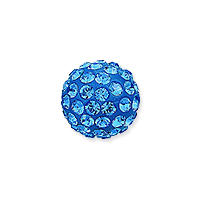 Swarovski Crystal Pave Ball Bead 6mm Sapphire (1-Pc)