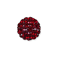 Swarovski Crystal Pave Ball Bead 6mm Siam (1-Pc)
