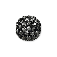 Swarovski Crystal Pave Pure Ball Half-Drilled Bead 8mm Hematite (1-Pc)