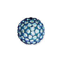 Swarovski Crystal Pave Pure Ball Half-Drilled Bead 8mm Light Sapphire Shimmer (1-Pc)