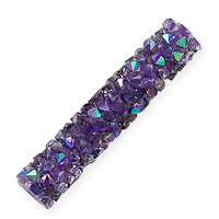 Swarovski Fine Rocks Tube Bead 5951 30x6mm Light Amethyst/Crystal Paradise Shine (1-Pc)
