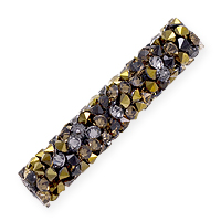 Swarovski Fine Rocks Tube Bead 5951 30x6mm Light Colorado Topaz/Dorado (1-Pc)