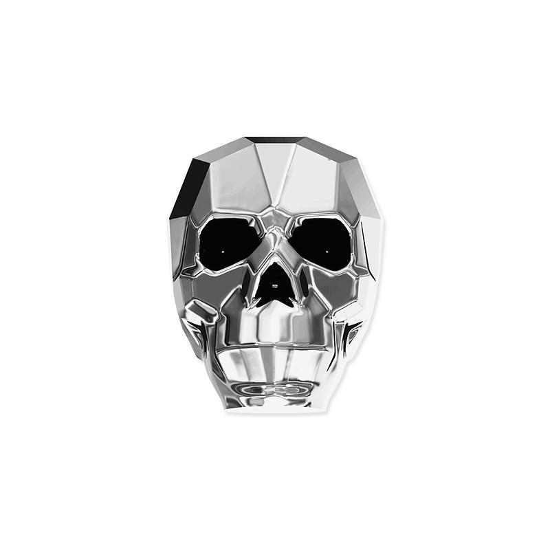 4d9b25a6a013c Swarovski Skull Bead 5750 Crystal Light Chrome 19mm (1-Pc)