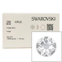 Swarovski 2088 8.5mm (SS40) Crystal Flat Backs (Factory Pack of 144)