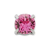 Swarovski Crystal Round 2-Hole Setting 8mm Rose Rhodium Plated (1-Pc)