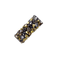 Swarovski Fine Rocks Tube Bead 5951 15x6mm Light Colorado Topaz/Dorado (1-Pc)