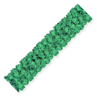 Swarovski Fine Rocks Tube Bead 5951 30x6mm Emerald (1-Pc)