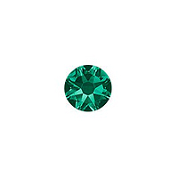 Swarovski 2088 3.5mm (SS14) Emerald Flat Back (10-Pcs)