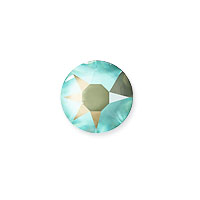 Swarovski 2078 7mm (SS34) Crystal Army Green DeLite Hotfix Flat Back (5-Pcs)