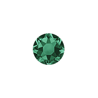 Swarovski 2078 6mm (SS30) Emerald Hotfix Flat Back (5-Pcs)