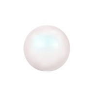 Swarovski Crystal Half-Drilled Pearls 5818 10mm Pearlescent White (2-Pcs)