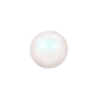 Swarovski Crystal Half Drilled Pearls 5818 8mm Pearlescent White (2-Pcs)