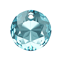 Swarovski Classic Cut 6430 Pendant 10mm Aquamarine (1-Pc)