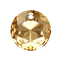 Swarovski Classic Cut 6430 Pendant 10mm Crystal Golden Shadow (1-Pc)