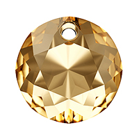 Swarovski Classic Cut 6430 Pendant 14mm Crystal Golden Shadow (1-Pc)