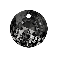 Swarovski Classic Cut 6430 Pendant 10mm Crystal Silver Night (1-Pc)