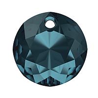 Swarovski Classic Cut 6430 Pendant 14mm Montana Blue (1-Pc)