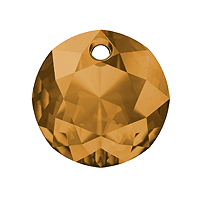 Swarovski Classic Cut 6430 Pendant 10mm Topaz (1-Pc)