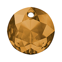Swarovski Classic Cut 6430 Pendant 14mm Topaz (1-Pc)