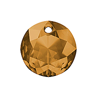 Swarovski Classic Cut 6430 Pendant 8mm Topaz (1-Pc)