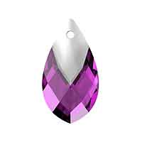 Swarovski 6565 18mm Amethyst Metallic Cap Pear Shape Pendant (1-Pc)