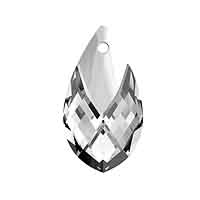 Swarovski 6565 18mm Crystal Metallic Cap Pear Shape Pendant (1-Pc)