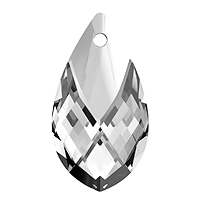 Swarovski 6565 22mm Crystal Metallic Cap Pear Shape Pendant (1-Pc)