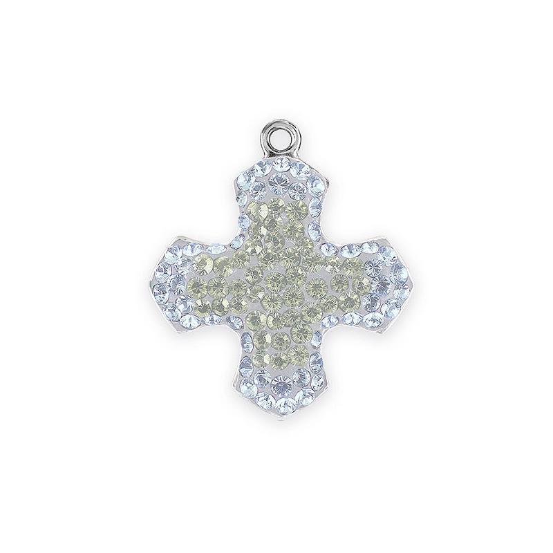 Save 50 on swarovski 14mm white opal pave greek cross pendants swarovski pav greek cross pendant 67432 14mm white opalcrystal moonlight rhodium plated 1 audiocablefo
