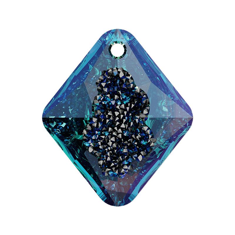 Swarovski crystal 6926 26mm growing crystal bermuda blue rhombus swarovski 6926 26mm growing crystal bermuda blue rhombus pendant aloadofball Gallery