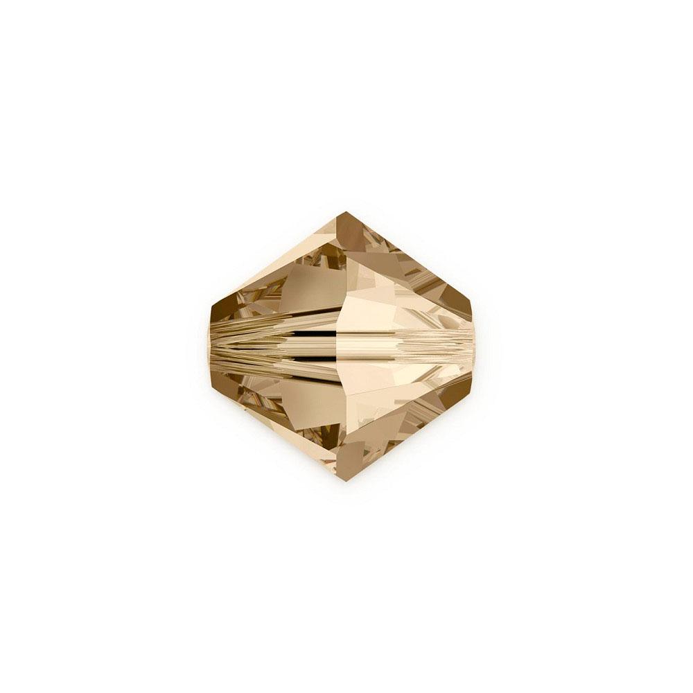3aa325fff0 All Swarovski Elements 50% Off - Swarovski Crystals 5328 6mm Crystal Golden  Shadow Bicone Bead