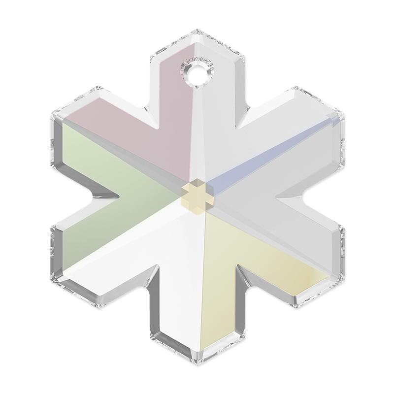 4d38b85528052 Swarovski 6704 20mm Crystal AB Snowflake Pendant (1-Pc)