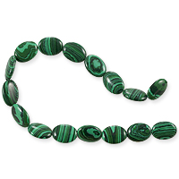 Synthetic Malachite Ovals Beads 10x14mm (16