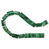 Synthetic Malachite Rectangle Beads 10x14mm (16