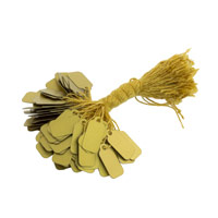 16mm Gold Plastic String Tags (100-Pcs)