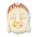 Tibetan Buddha Bead 24x19mm Yak Bone (1-Pc)